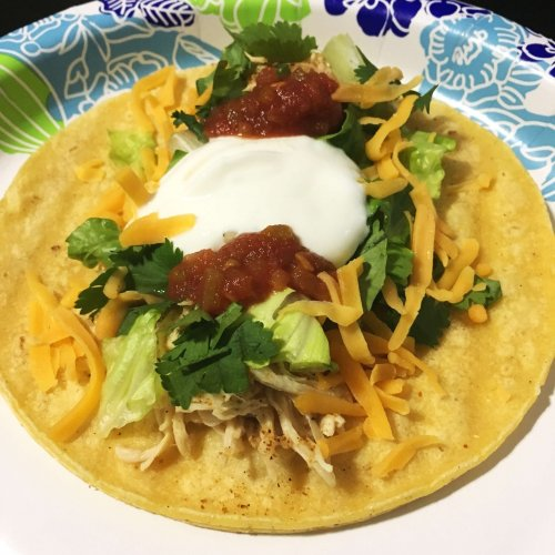 Recipe and photo by Mingled Vitality. US-style street tacos with chicken.